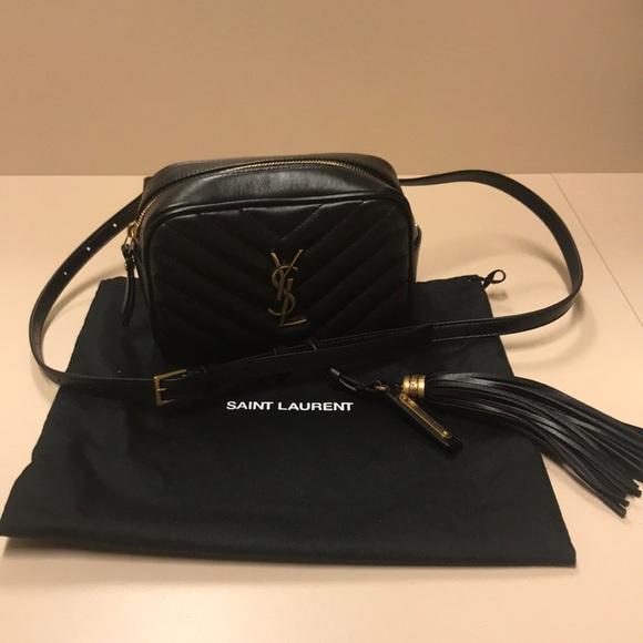 bf8571a88c YSL Matelasse Leather Belt Bag Black